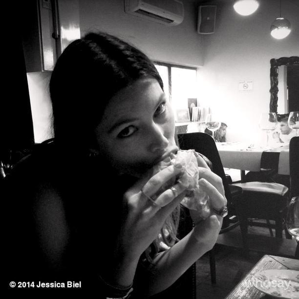 Pregnancy cravings? Pack a snack, says Keira Knightley ... Jessica Biel Instagram