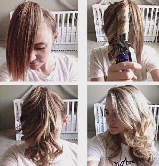 Как накрутить средние волосы фото