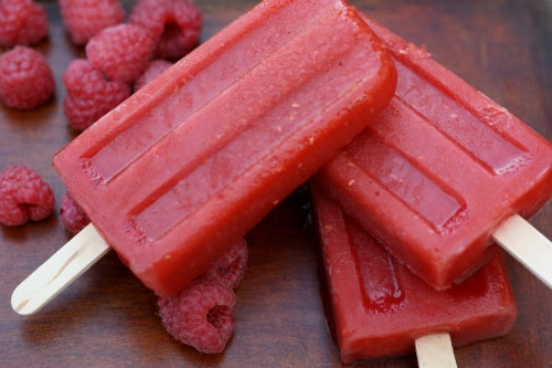 Carrot, Mango, and Raspberry Popsicles 4