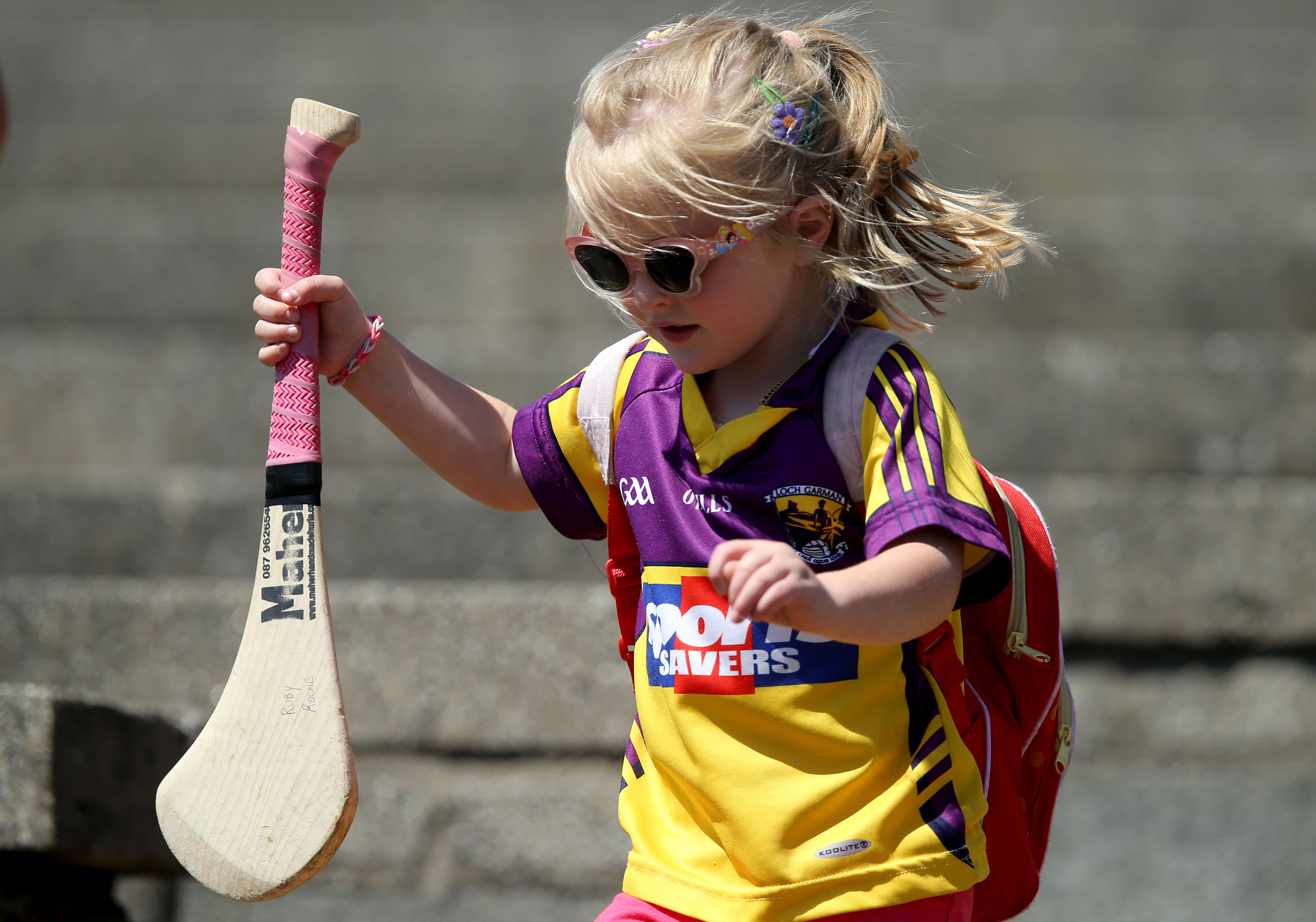 REPRO FREE***PRESS RELEASE NO REPRODUCTION FEE*** Liberty Insurance All Ireland Camogie Championship Group 1, Wexford Park, Wexford 5/7/2014 Wexford vs Cork A young Wexford fan at the game Mandatory Credit ©INPHO/Dan Sheridan