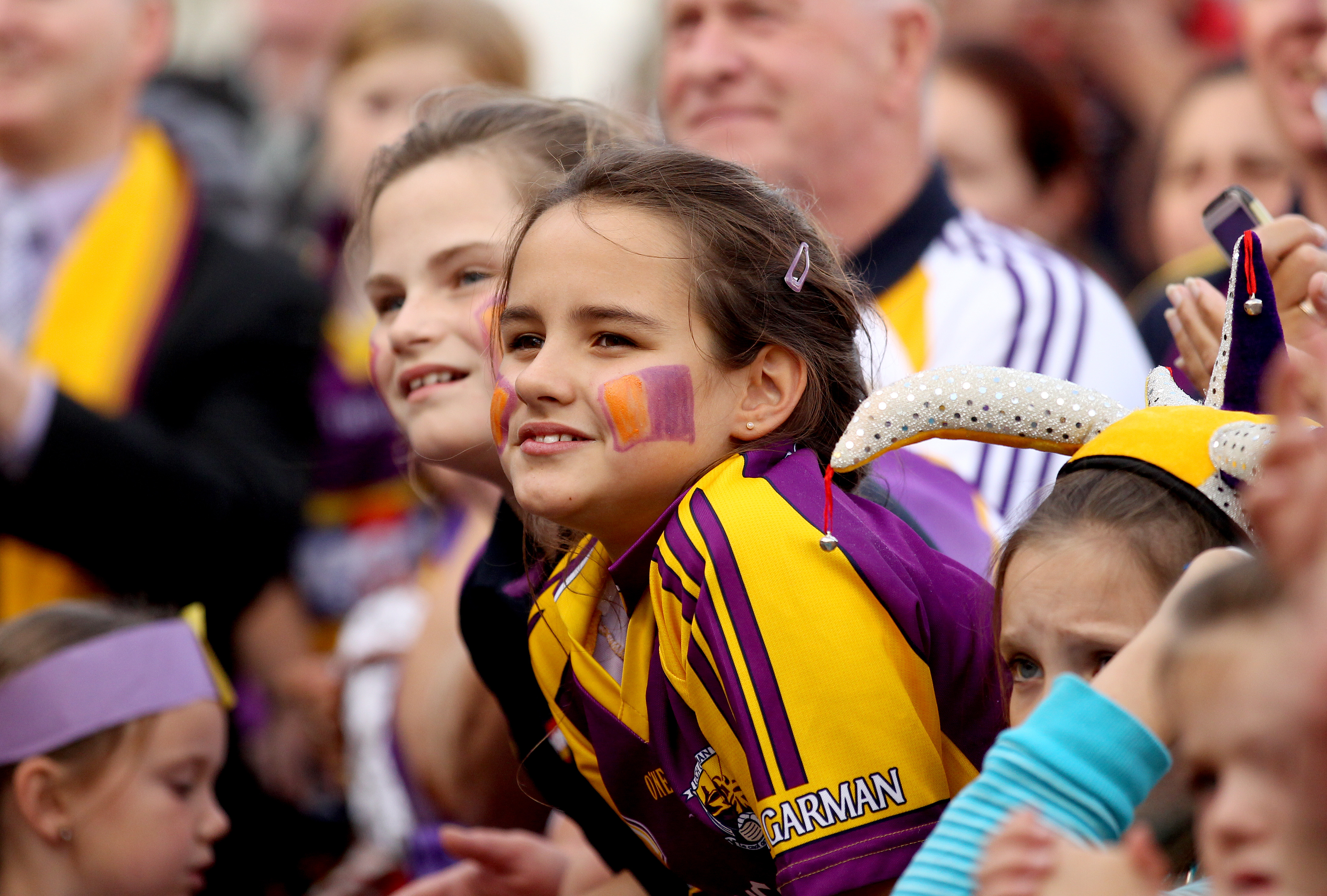 All Ireland Senior Camoige Champions Wexford Homecoming, Gorey, Wecford, 17/9/2012 A young Wexford fan Mandatory Credit ©INPHO/Ryan Byrne