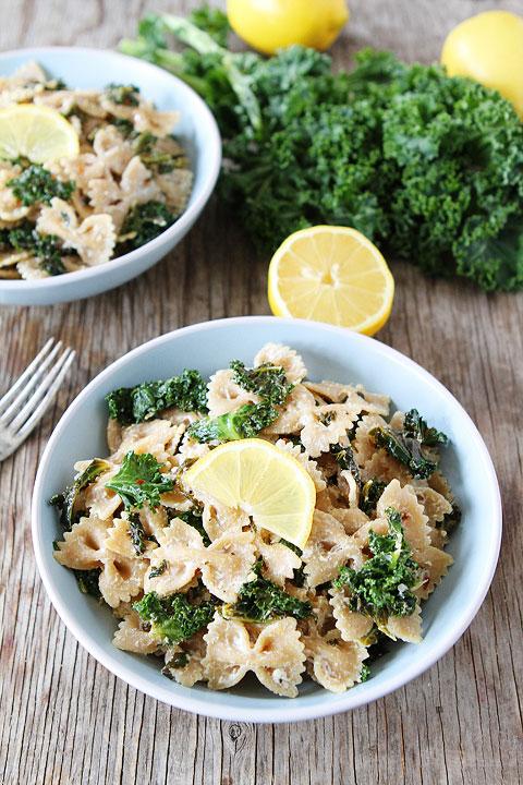 Goat-Cheese-Lemon-Pasta-with-Kale-3
