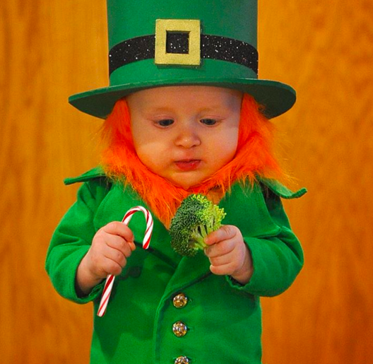 Dad Turns Baby Into Leprechaun And Its Genius HerFamilyie - Dad turns his 6 month old son into real life leprechaun for st patricks day