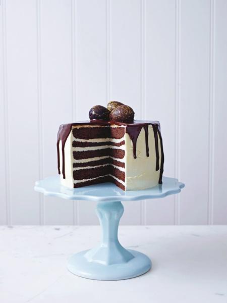 Chocolate and Vanilla Drizzled Cake