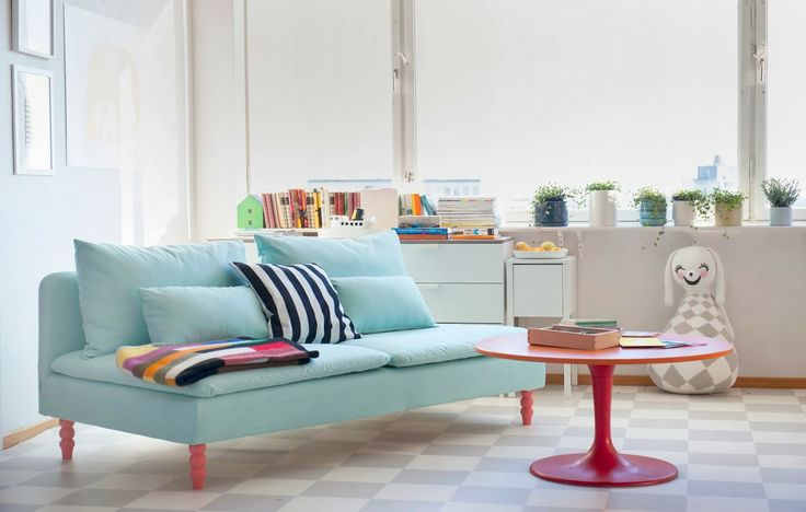 This Tiny Trick Will Make An Ikea Sofa Look So Much More