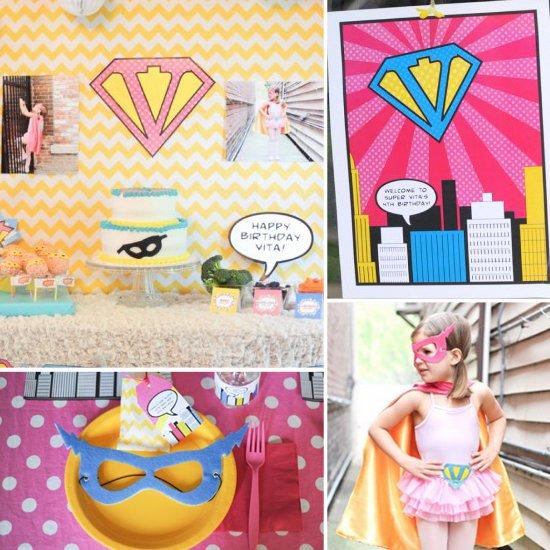 Vintage-Girlie-Superhero-Party