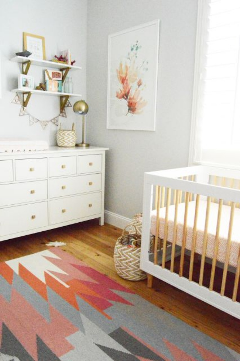 This is the nursery inspiration you have been looking for for Modern nursery decor