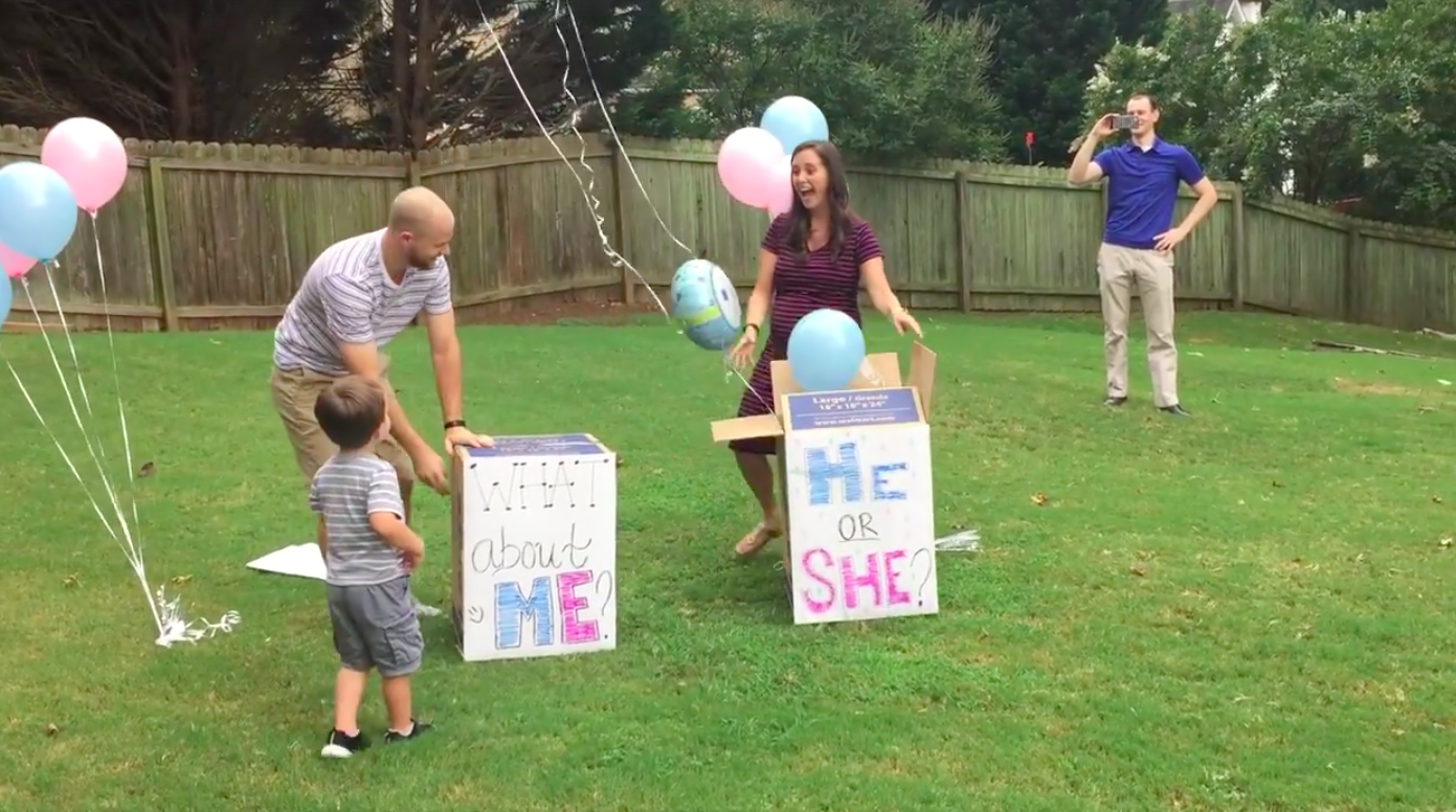 After three miscarriages   this couple threw the best baby reveal