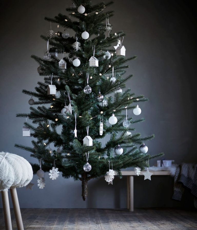 Oh, and as for your actual tree? White, white, white – with a dash of grey there too. Oh, Ikea, you do know the way to our hearts.