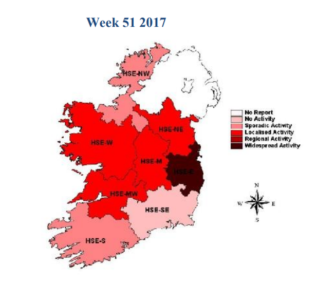 New map shows areas of ireland worst hit by flu this winter her new hse map shows areas of ireland worst hit by winter flu gumiabroncs