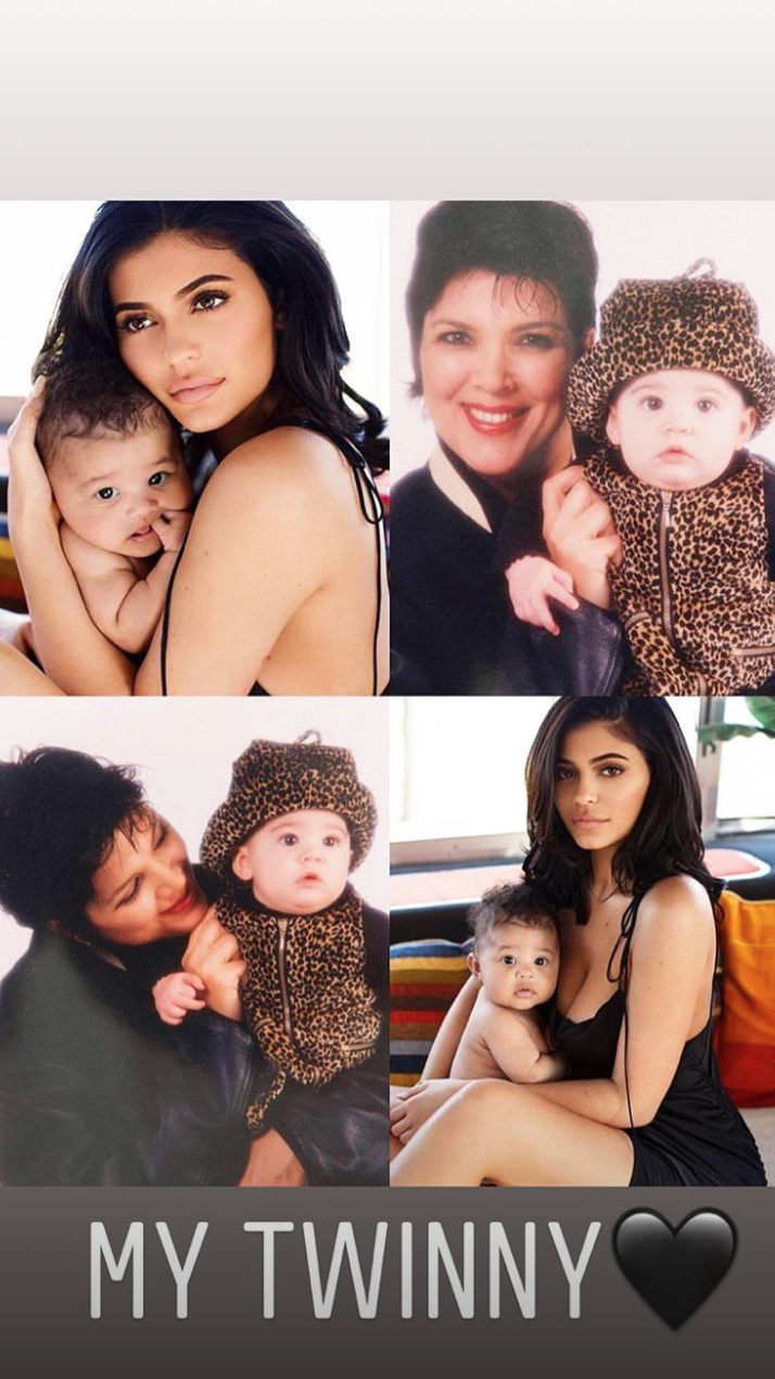 These new photos prove that Kylie Jenner was the image of daughter Stormi as a baby
