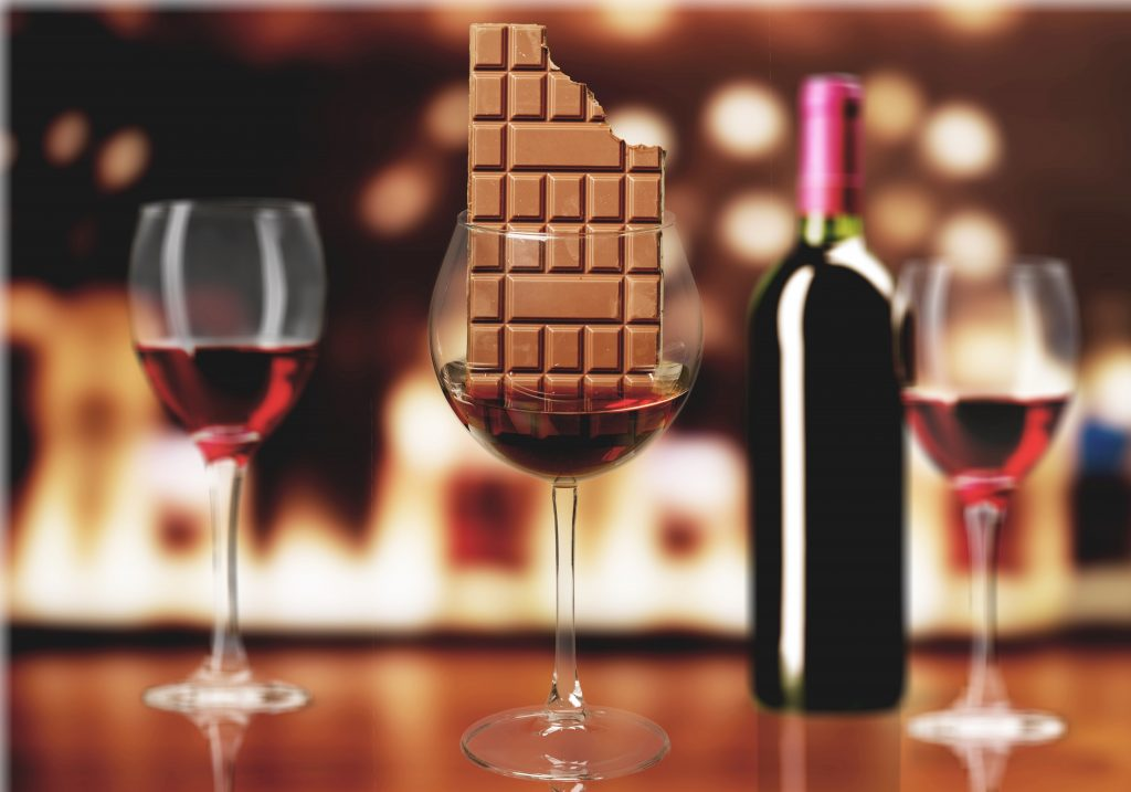Research finds that red wine and chocolate contain anti