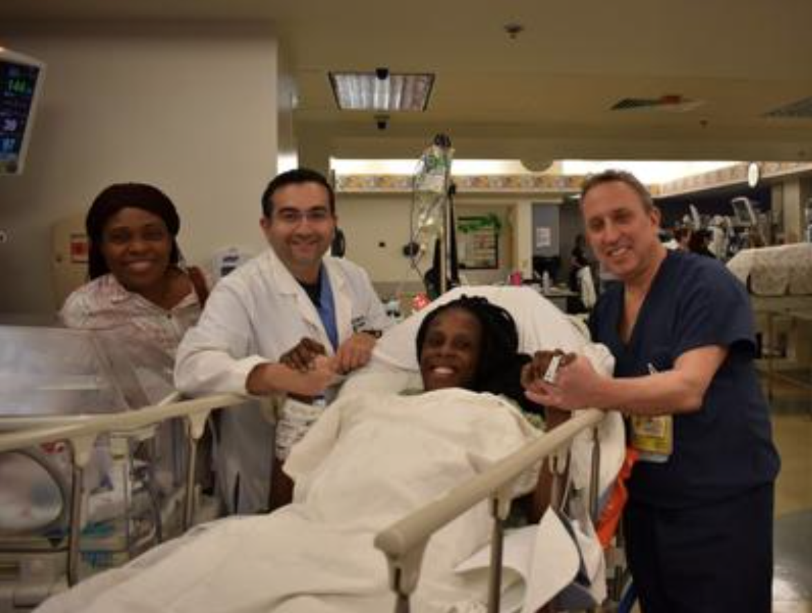 Woman recovering after giving birth to six babies in nine