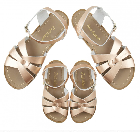 Matching mum and daughter sandals just