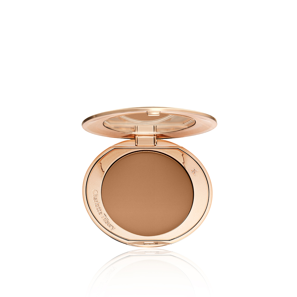 here s all 4 new shades of charlotte tilbury s airbrush flawless finish powder her ie