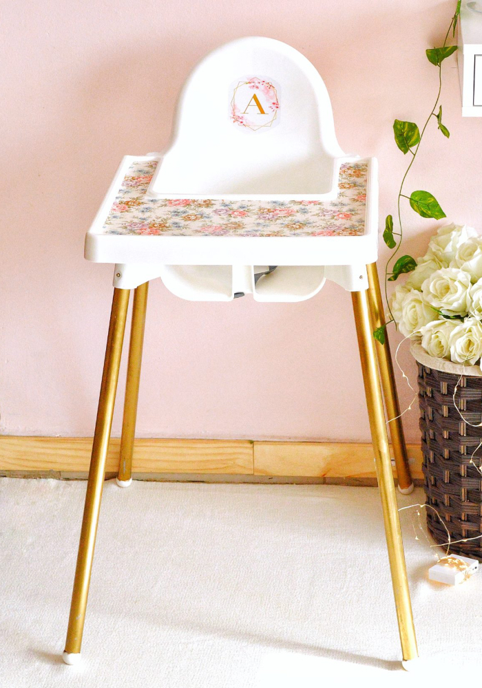 ikea high chair makeover